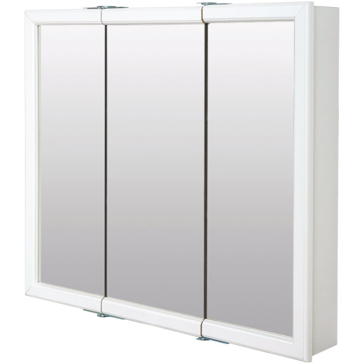 Zenith Zenna Home White 36 In. W x 33 In. H x 6 In. D Tri-View Surface Mount Medicine Cabinet