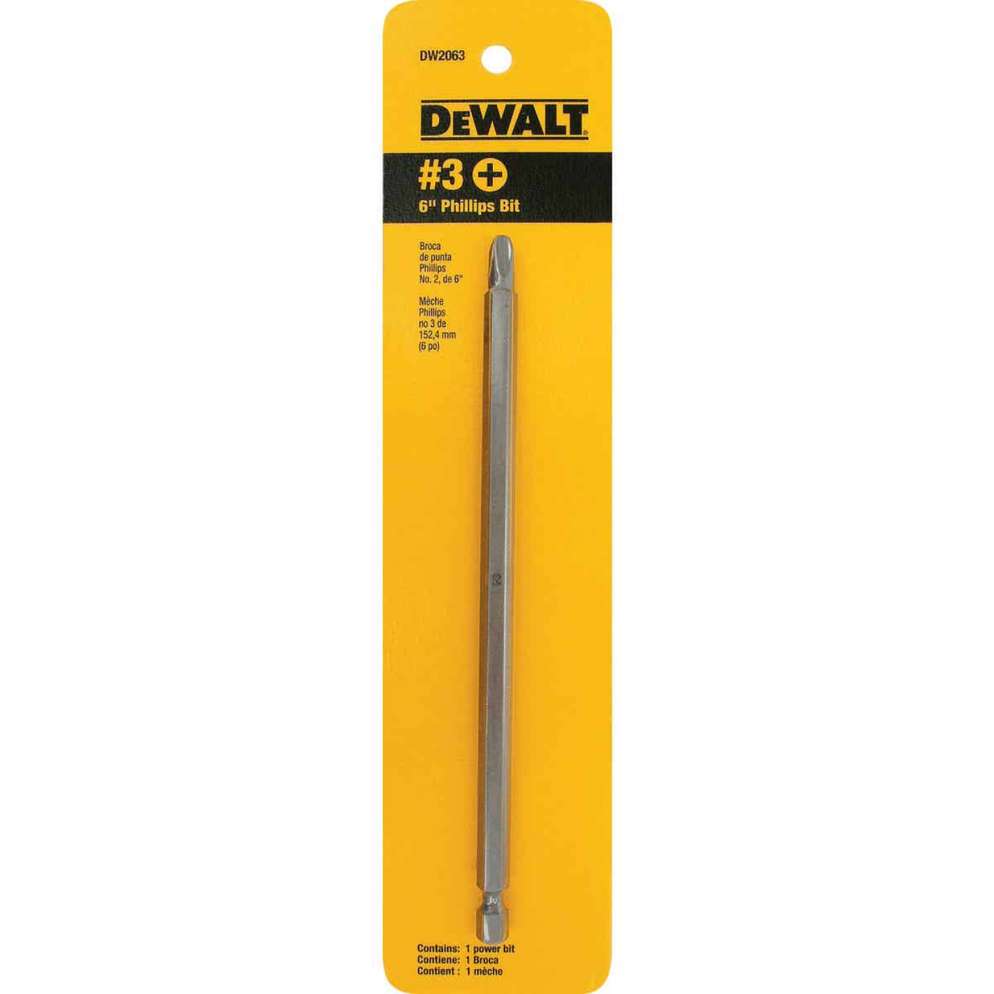 DeWalt Phillips #3 6 In. 1/4 In. Power Screwdriver Bit Image 2