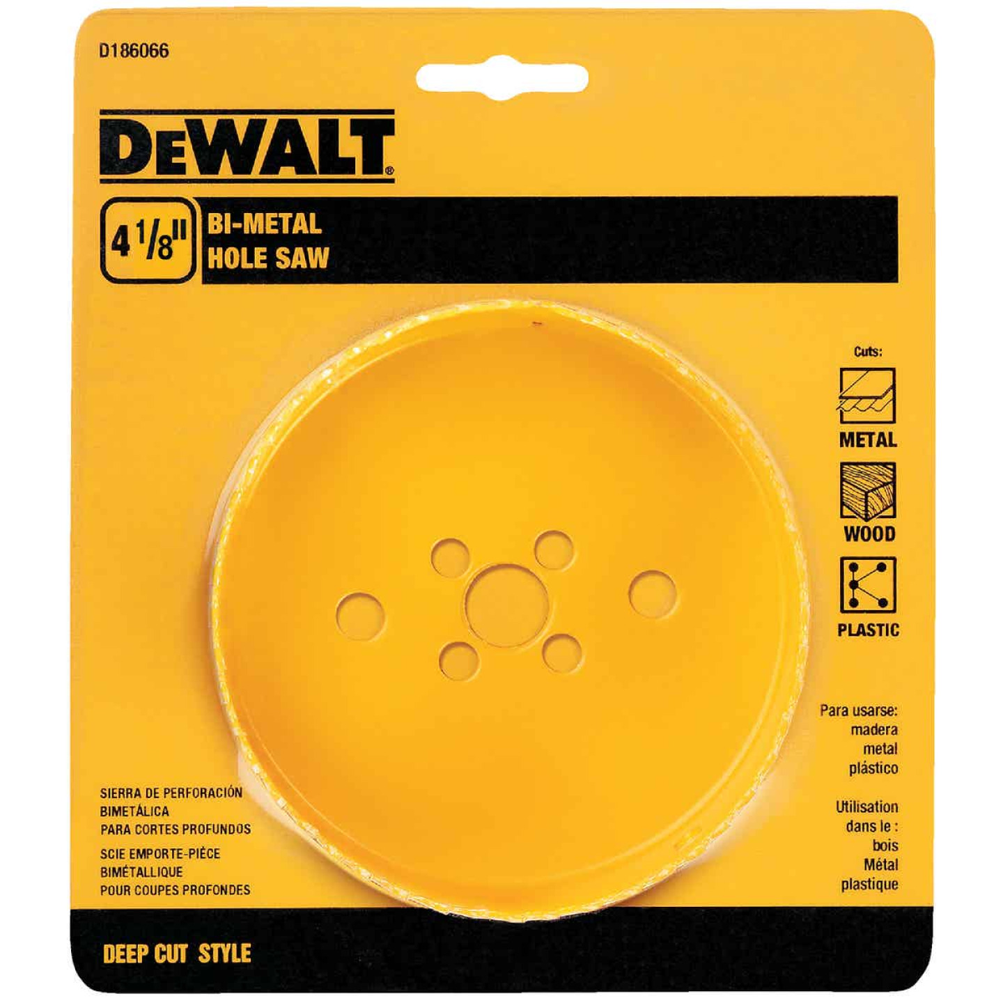 DeWalt 4-1/8 In. Bi-Metal Hole Saw Image 1
