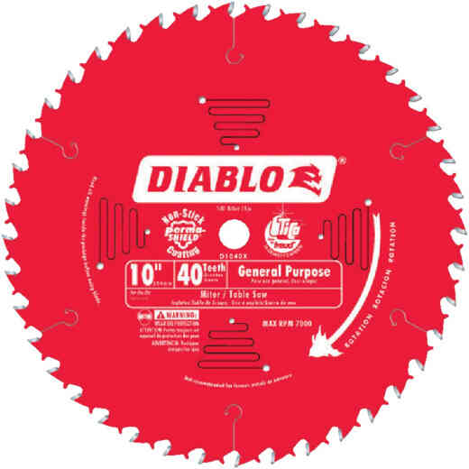 Diablo 10 In. 40-Tooth General Purpose Circular Saw Blade