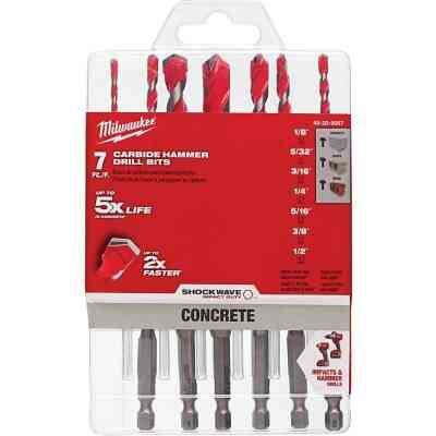 Milwaukee Shockwave 7-Piece Large Masonry Drill Bit Set