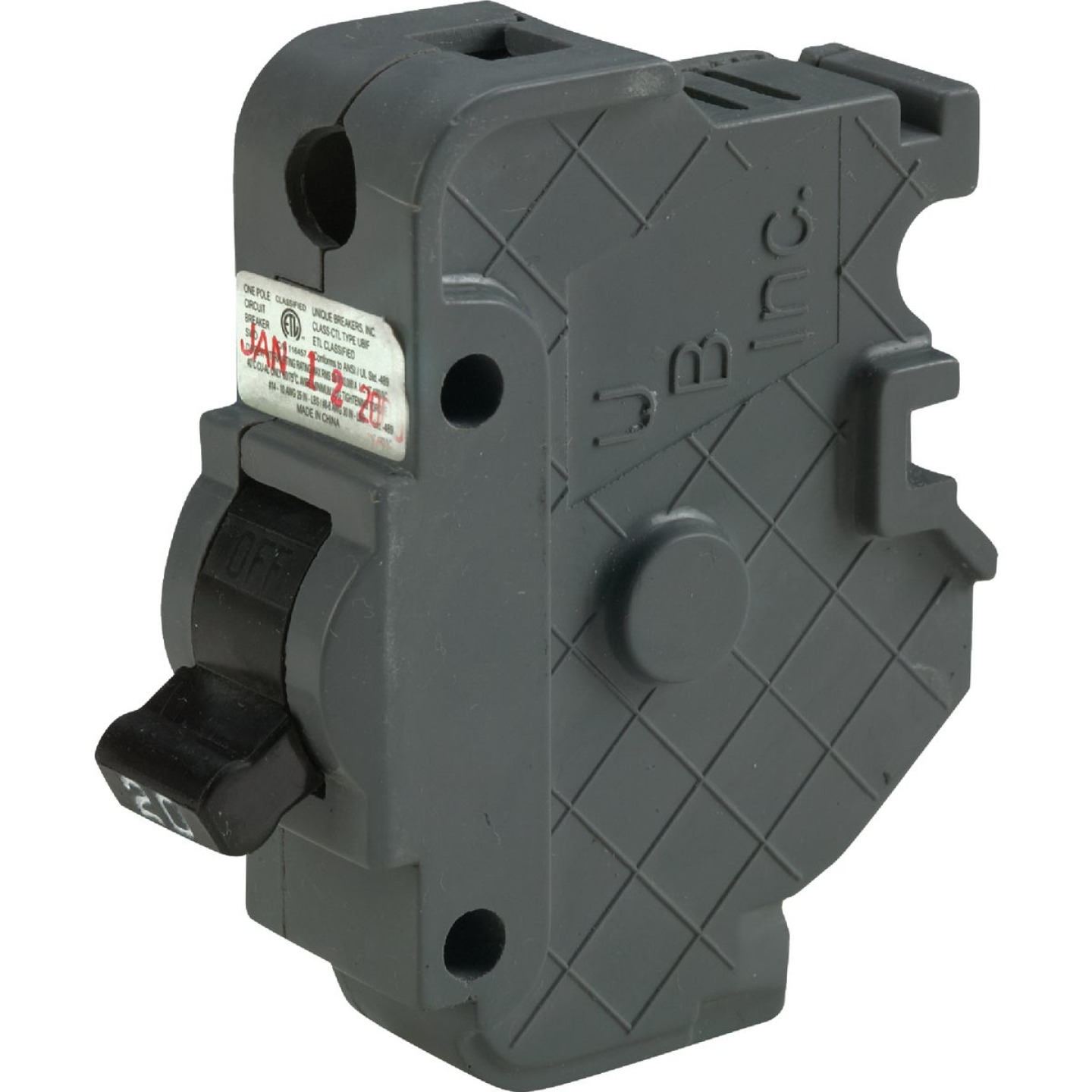 Connecticut Electric 20A Single-Pole Standard Trip Packaged Replacement Circuit Breaker For Federal Pacific Image 1