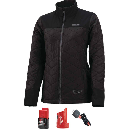 Milwaukee M12 Medium Black Cordless Ladies Heated Jacket Kit