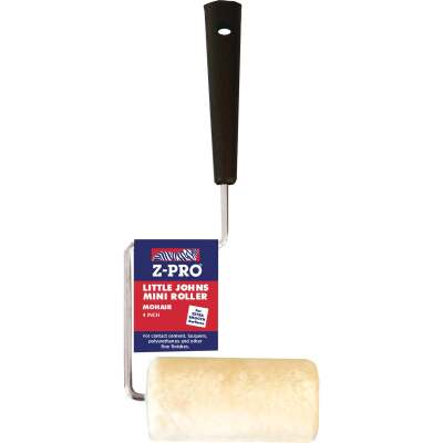 Premier Z-Pro 4 In. x 1/4 In. Smooth Mohair Paint Roller Cover & Frame